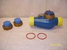 "Hays Fluid Controls 2"" Pulse Flow Meter, Blue 12-Mrdb-1 W/10' Wire & Couplings"