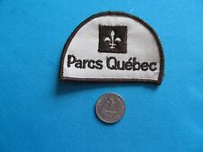 VINTAGE 70S NATIONAL PARKS QUEBEC FRENCH POLICE WILDLIFE PROTECTION PATCH CREST
