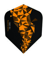 Dart Flights 150 micron Flight orange - schwarz, orange darts flights 150 mic F2