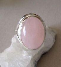 Ring mit Rosenquarz, 925er Silber , Gr. 18,1