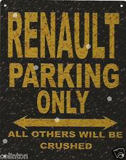 RENAULT PARKING METAL SIGN RUSTIC VINTAGE STYLE 8x10in 20x25cm garage