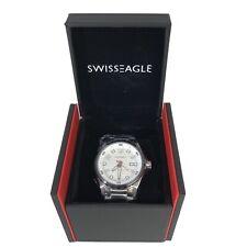 Swiss Eagle Men's Engineer Analog Display Swiss Quartz Silver Watch SE-9063-33