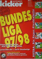 Kicker Sportmagazin Sonderheft Fussball Bundesliga 1997/98 mit Stecktabelle