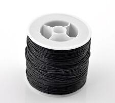 """80m (3149-5/8 """"), negro algodón encerado, cable de 0.5 mm Diám. de Pulsera / Collar"""