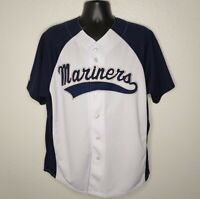 Vintage 90s Mens L MLB Jersey Seattle Mariners Majestic Sewn Baseball Large