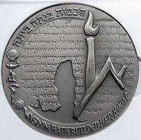 1965 ISRAEL Vintage HEBREW UNIVERSITY of JERUSALEM Old Silver Medal NGC i89343