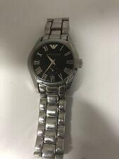 Emporio Armani Watch Black Dial Silver S. Steel Men's Watch AR0680