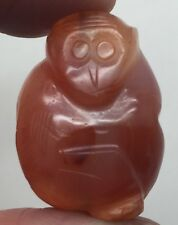 Antique Chinese Red Agate Toggle Amulet Bead Pendant Carved Monkey
