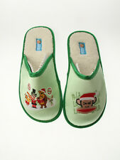 Paul Frank Medium Size 7/8 $35 Green Julius Christmas Carols Slippers 240127021