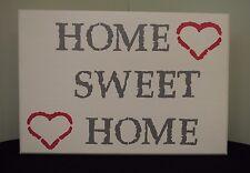 """Home Sweet Home"" decorative stool, home, home decor, living/family room, house"