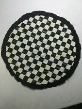 "McKenzie-Childs Courtly Check Round Placemat 15"" Dia"