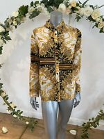 Atmosphere Blouse Shirt Top Size 12,16 & 18 Baroque Scarf Print Long Sleeve GE77