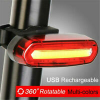 NEW 120 Lumens LED Bike Tail Light USB Rechargeable Powerful Bicycle Rear Light