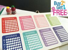 PP075--8 Small Hydrate Weekly Life Planner Stickers for Erin Condren