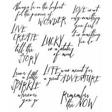 Tim Holtz Cling Stamps - Handwritten Thoughts
