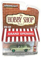 GREENLIGHT 97010 B THE HOBBY SHOP 1969 CHEVY CAMARO with GAS PUMP 1/64 Chase