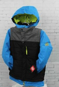 2019 686 Youth Boys Scout Insulated Snowboard Jacket Medium Bluebird Colorblock