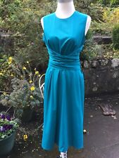HOBBS Electric Blue/Jewel Twitchill Dress UK12 £129 Pockets