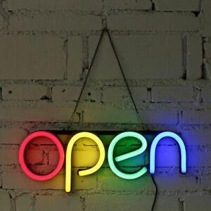 OPEN Neon Sign LED Light Tube Handmade Visual Artwork Bar Club KTV Wall Decor