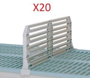 "PACK OF 20 - METRO DD24-8 METROMAX I POLYMER SHELF DIVIDER 8"" X 24"""