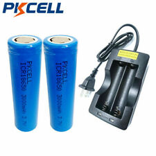 PKCELL 18650 Type Battery and Charger - 2 piece Real 3000mAh + Smart Charger