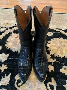 Lucchesse Classics Alligator tail boots 10.5 D