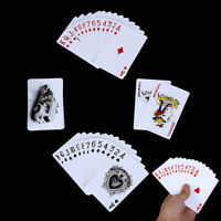 Poker Cards Waterproof Durable Pvc Plastic Playing Cards Novelty Poker Car QA