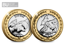 2019 Isle of Man TT Steve Hislop £2 Coin Duo