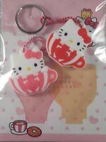 Cute Kawaii Hello Kitty Teacup Silicone Key Cover Pair