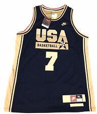 Larry Bird Nike Dream Team Usa Basketball Jersey Gold Mens Sz X-Large New W Tags