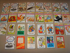 Lot de 29 anciens jeux de cartes 7 familles sept et bandimages Héron