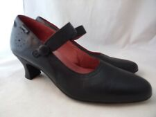 CAMPER 39 Mary Jane Black Leather Cut Out Shoes $150