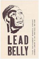 Authentic 1950 WOODY GUTHRIE, PETE SEEGER, W.C.HANDY Concert Handbill / Program