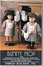 """Indygo Junction pattern for 17-19"""" Doll Felt Jumper, vest, blouse, Bunny purse"""