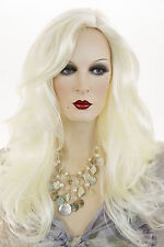 White Blonde Blonde Long Skin Top Straight Wigs