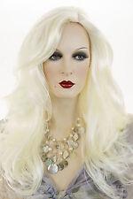 White Blonde Blonde Long Skin Top Straight Wigs