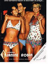 PUBLICITE ADVERTISING 054  1978  JANINE ROBIN   maillots de bain