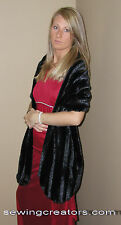 Black Faux Fur Stole Shawl Evening Wrap Bridal Cape By SewingCreators