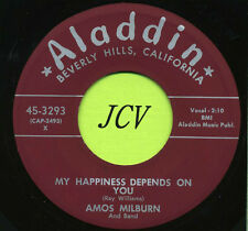 AMOS MILBURN  My Happiness Depends On You / All Is    R&B-SOUL 45 RPM  RECORD