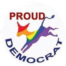 Proud Gay Lesbian Democrat Donkey President Button Pin Pride LGBT
