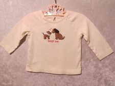 """Gymboree """"Lots of Dots"""" Puppies in  Puppy Love Ivory Top, 6-12 mos."""