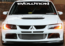 Evolution Mitsubishi Windshield  Decal Sticker jdm Lancer import sti evo illest