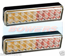 2x LED autolamps 135arme 12v/24v Trasero Cola claro combinación Slim lights/lamps