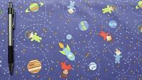 Clothworks Space Age Dark Purple 100% cotton fabric by the yard
