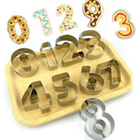 9Pcs/Set Numbers Fondant Pastry Mold Stainless Steel Cookie Cutter Baking Tool
