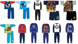 Boys Children's Character Pyjamas Nightwear PJ's Long Sleeve 4-5 Years Football