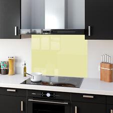 Shades Light Cream Toughened Glass Kitchen Splashback Panels Any Size & Colour