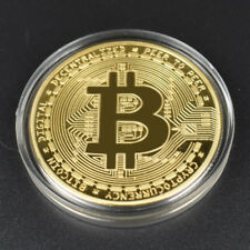 2x Rare Collectible Golden Iron Bitcoin Commemorative 2018 Best Coin BIT UP Gift