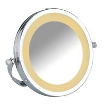 WENKO LED Kosmetikspiegel Brolo Handspiegel 3-fach Vergrößerung