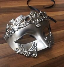 Mens Masquerade Mask Filigree Silver Venetian Ball Prom Christmas Party Phantom